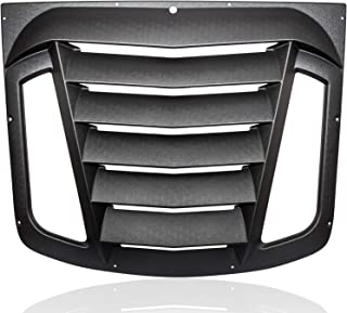 Annbey Rear Window Louver Matte Black ABS Window Visor Sun Shade Scoop Cover Vent for 2003-2008 Nissan 350Z