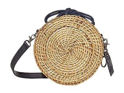 FRYE AND CO. Esme Straw Canteen Bag (Navy) Handbags