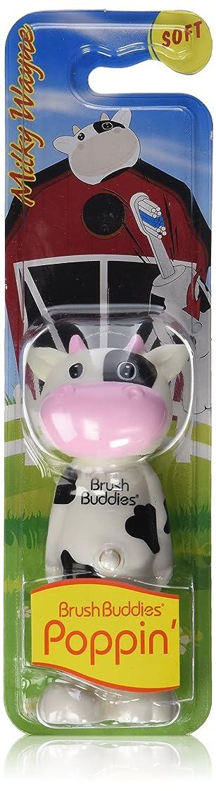 田舎者苦ジーンズBrush Buddies Manual Poppin Milky Wayne Toothbrush by BrushBuddies