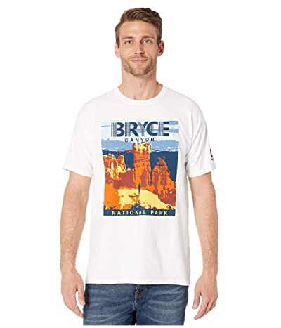 Hanes ComfortWashtm Bryce Canyon National Park Graphic Short Sleeve T-Shirt (White) Men