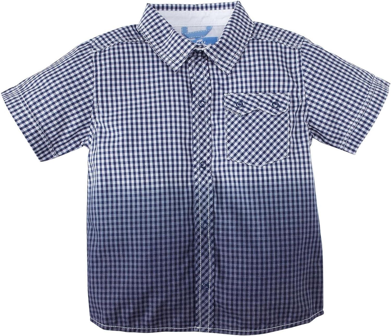 Kapital K Little Boys' Snapdown Shirt (Toddler/Kid) - Navy Check