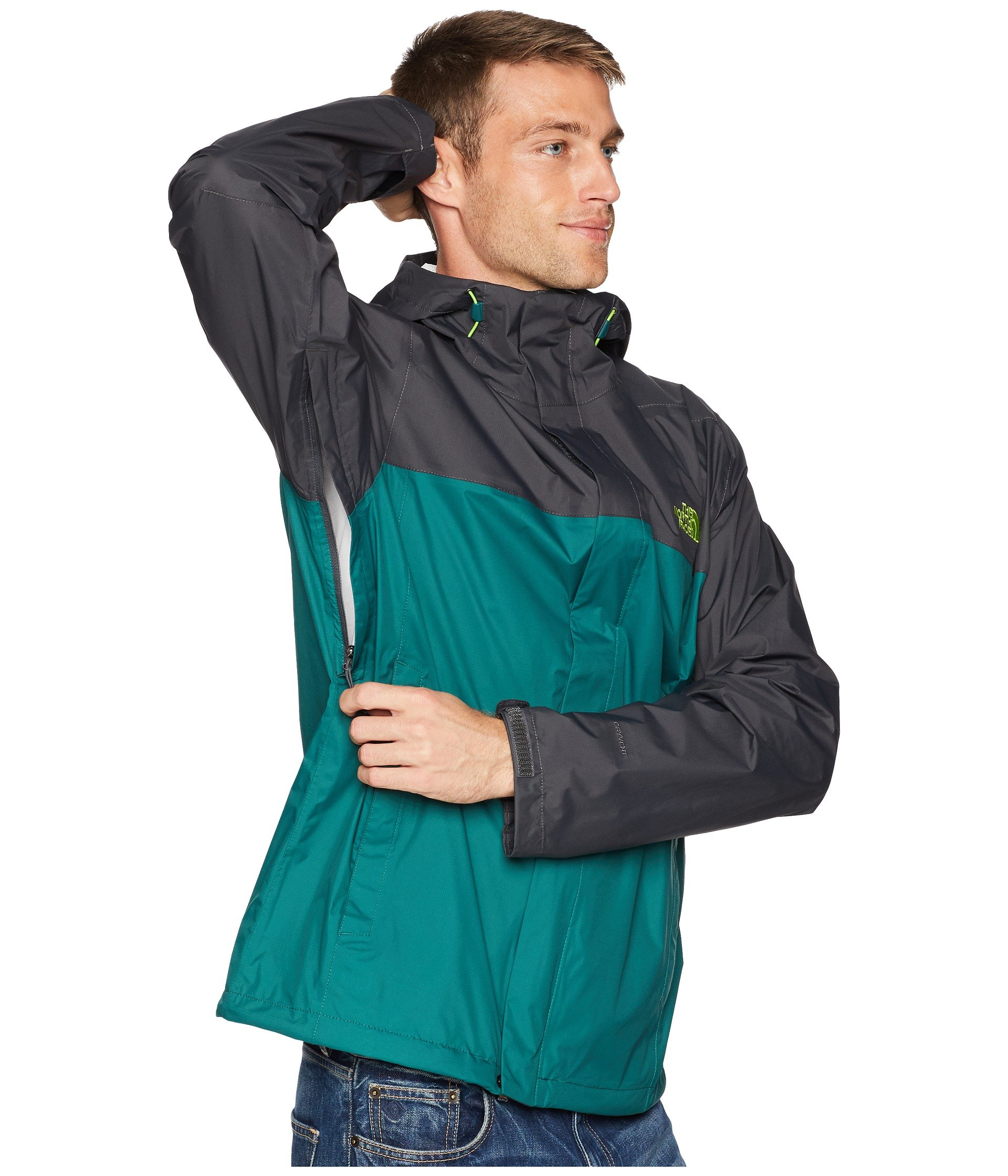 Garden North Venture Jacket Asphalt 2 botanical Green Face Grey The 8vwxUqf1U