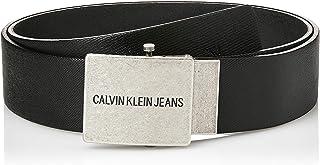 Calvin Klein Jeans Men's J 4Cm Adj.Plaque Leather Belts