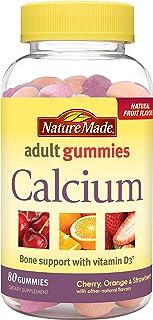 Nature Made Calcium w. D3 Adult Gummies (500 mg of Calcium & 700 IU of Vitamin D per serving) 80 Ct