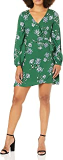 cupcakes and cashmere womens mystique printed rayon faux wrap dress Dress