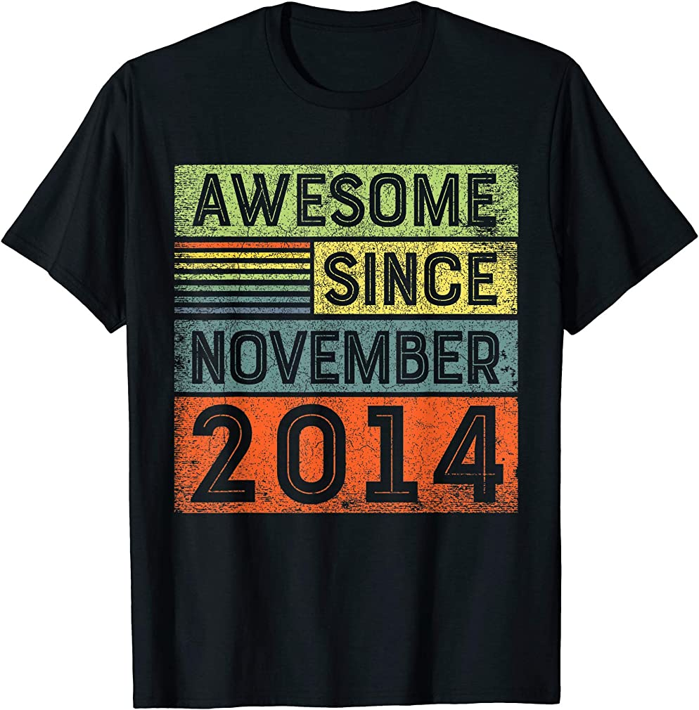 Awesome Since November 2014 5th Birthday Shirt Boy T-shirt