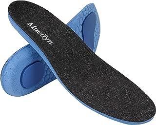 MUEFFYN Running Shoe Insoles Sneaker Inserts Ultra-Light Anti-Slip Absorb Shock Prevent Injuries for Men Women Plantar Fasciitis Foot Knee Heel Pain (Women 11.5-13.5 / Men 10.5-13)