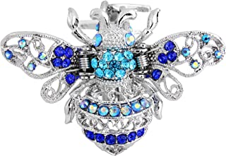 EVER FAITH Austrian Crystal Cute Honey Bee Insect Hair Claw Clip for Women, Ball, Wedding