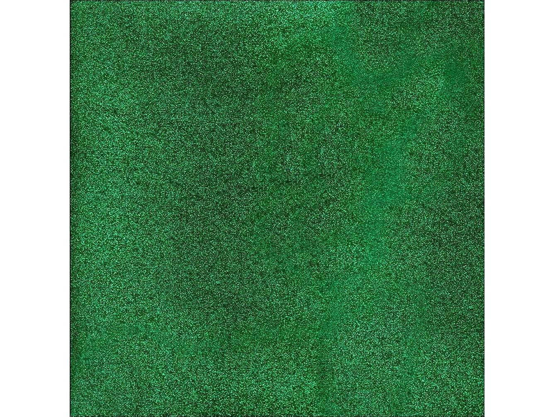 American Crafts AMC Cardstock 12x12 Glitter Evergreen, 12 x 12