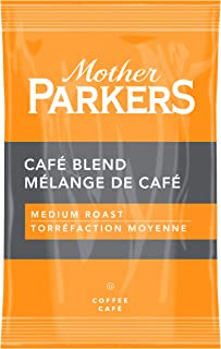 Mother Parkers Café Blend, Medium Roast, Ground Coffee Fractional Pack, 2.25 Oz (64 Count)