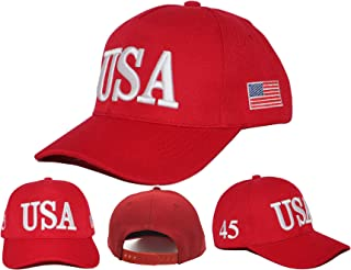 Keep America Great 2020, with 45th President Donald Trump USA Cap/Hat and USA Flag