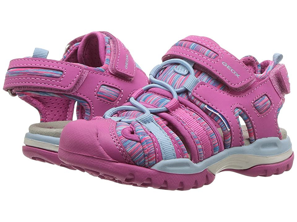 Geox Kids Borealis 8 (Toddler/Little Kid) (Fuchsia/Sky) Girl