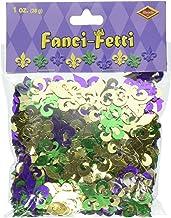 Fanci-Fetti Fleur De Lis (gold, green, purple) Party Accessory  (1 count) (1 Oz/Pkg)