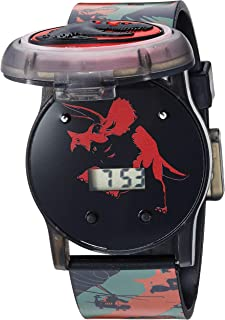 Quartz Watch with Silicone Strap, Black, 23.9 (Model: JRW4006)