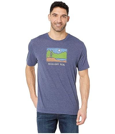 Life is Good Highlight Reel Cool T-Shirt (Darkest Blue) Men