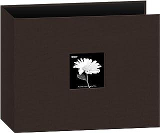 "Pioneer Photo Albums Fabric Frame 3-Ring Binder Scrapbook, 12""x12"", Chocolate Brown"