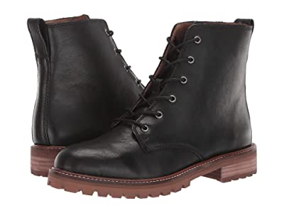 Madewell Levi Lace-Up Boot (True Black Leather) Women