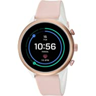Fossil Women's Sport Metal and Silicone Touchscreen Smartwatch with Heart Rate, GPS, NFC, and...