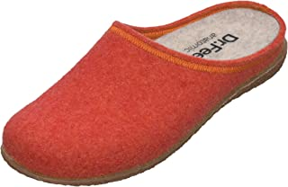 DR.FEET - Women Natural Wool Felt Open Back Rubber Sole Anatomical Slippers - Made in Europe