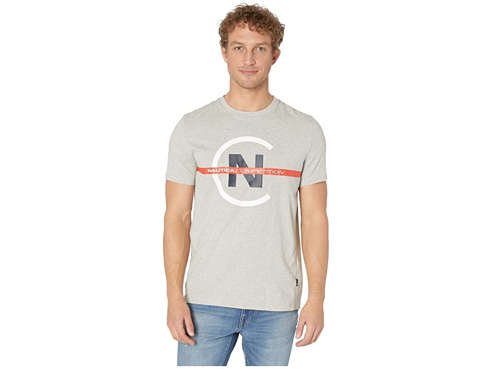 Nautica Short Sleeve Competition Tee (Grey Heather) Men
