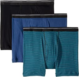 d0528b7d8f57 Black/Suitable Stripe Teal/Rich Blue. 8. Jockey. 100% Cotton Classic Knits Full  Rise Boxer Brief ...