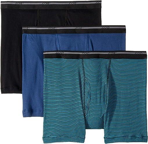 Black/Suitable Stripe Teal/Rich Blue