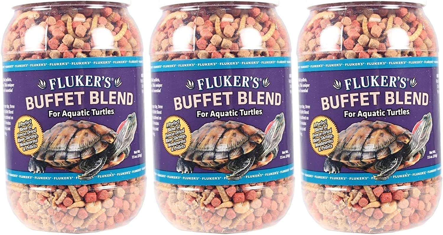 Fluker's Buffet Blend Aquatic Turtle Formula for Pets, 7.5Ounce (Pack of 3)