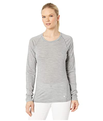 Smartwool Merino 150 Baselayer Long Sleeve (Light Gray Heather) Women
