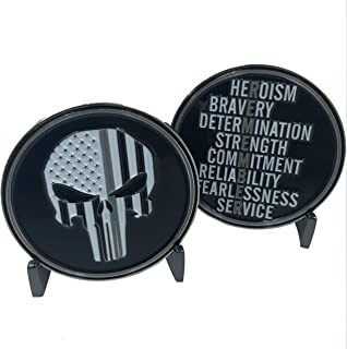 Corrections Thin Gray line Remember Punisher Challenge Coin