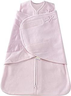 HALO SleepSack Micro-Fleece Swaddle, Soft Pink, Newborn