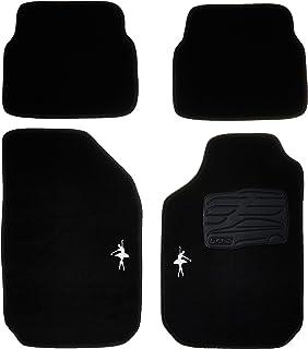 Tapetes de Carpete 04 Peças, Preto - 0 Universal Bailarina
