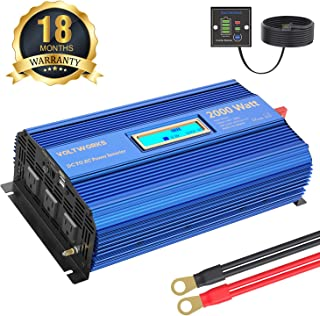 Power Inverter 2000Watt DC 12Volt to AC 120Volt with Remote Control & LCD Display Dual 2.4A USB Ports for RV Truck Boat