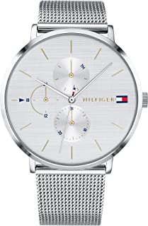 Tommy Hilfiger Women's Quartz Watch with Stainless Steel Strap, Silver, 20 (Model: 1781942)