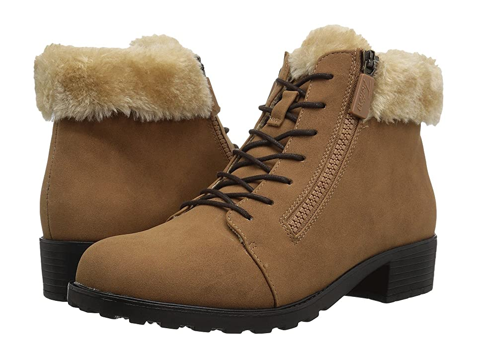 Trotters Below Zero Waterproof (Chestnut/Natural Nubuck PU Waterproof/Faux Fur) Women