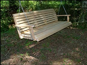 5 Five Feet Ft Made in the USA Rot Resistant Cypress Lumber Roll Back Porch Swing with Swing-mate™ Comfort Springs