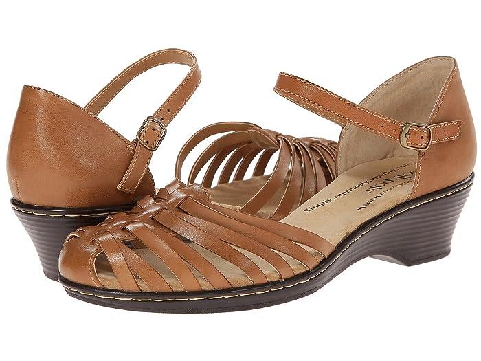 Vintage Sandals | Wedges, Espadrilles – 30s, 40s, 50s, 60s, 70s Comfortiva Tatianna - Soft Spots Lt. Tan Womens Slip on  Shoes $52.99 AT vintagedancer.com