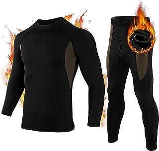 Thermal Underwear Set for Men Sport Soft Compression Fleece Base Layer Men Cold Weather Ski Shirt Long Johns for Men