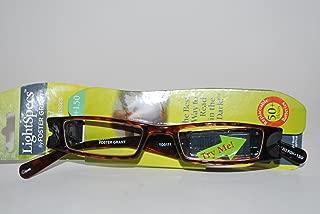 Light Specs By Foster Grant 1.50 Tortoise Reading Glasses