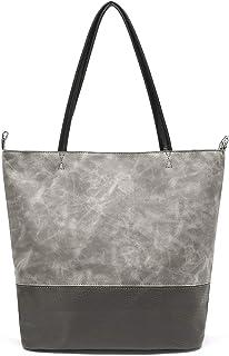 Epsion Women PU Leather Handbags Designer Shoulder Tote Top-handle Purses
