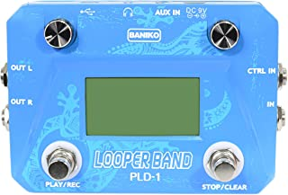 BANIKO LOOPER BAND, Guitar Loop Pedal, with Drum Machine Function, Loop Recording, 30 Loop Memories, 40 Drum Tempo, Max. 50min Recording Time, Foot switch, USB Connection, Intros Outros Function