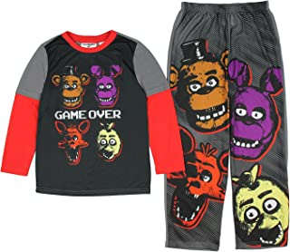 Five Nights at Freddy's Game Over Four Heads Two Piece Youth Pajama Set