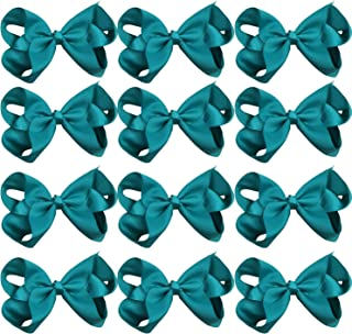 Large Boutique Hair Bows 6 Inch Cheerleading Cheerleader Cheer Bow Alligator Clips