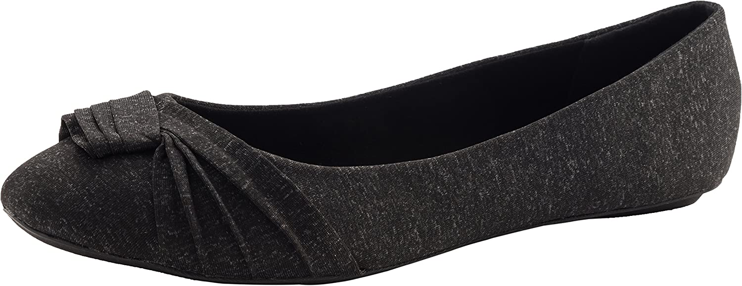 Cambridge Select Women's Closed Round Toe Knotted Slip-On Ballet Flat