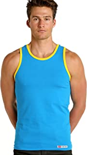 California Classic Tank Top Turquoise/Gold
