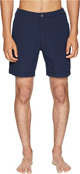 Calder 10 Solid Stretch Swim Trunk