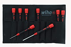Wiha 26193 Slotted and Phillips Screwdriver Set with Soft PicoFinish Handle, 8-Piece