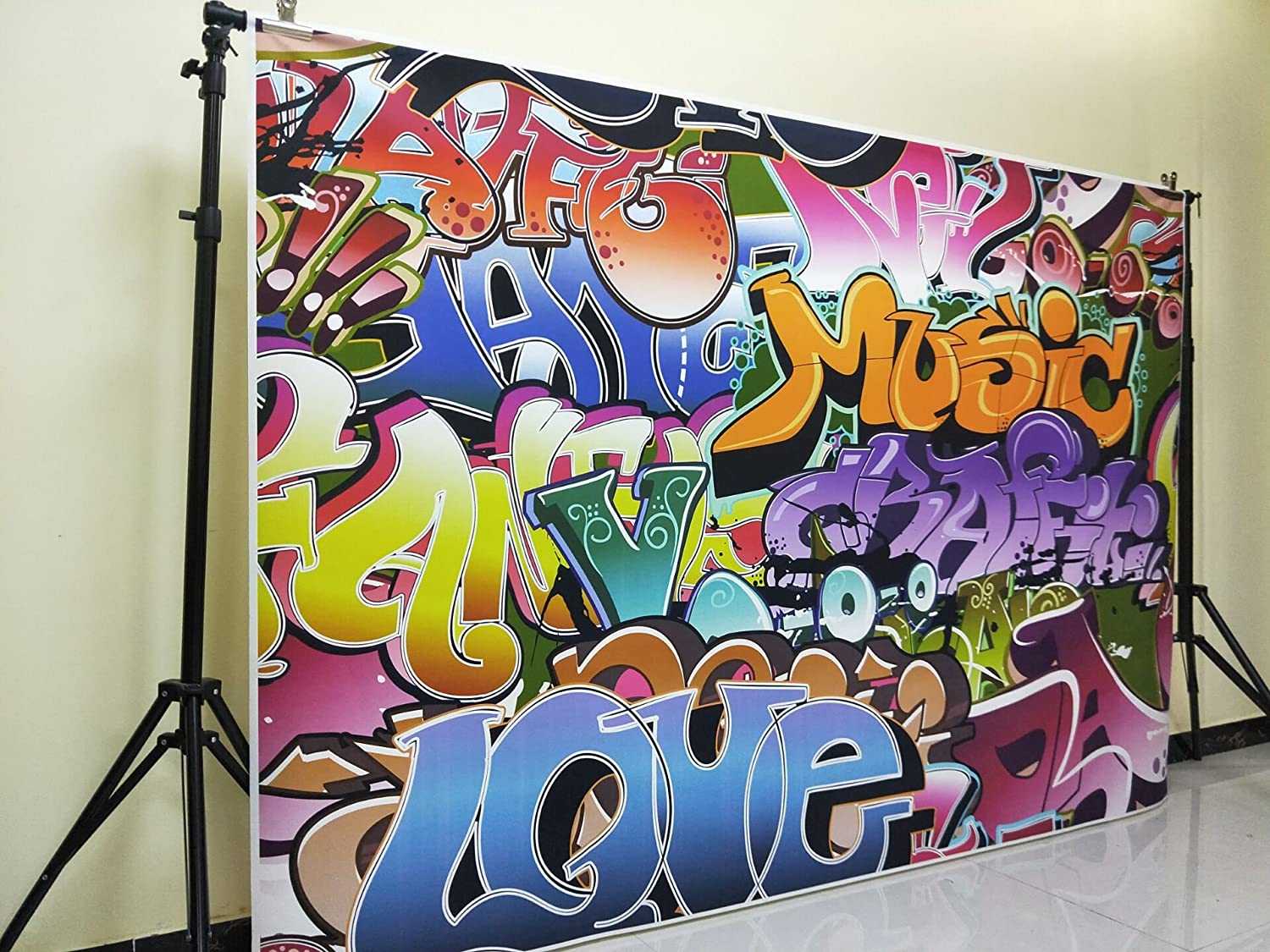 5X7ft 80s Party Backdrop Made in The 80s Theme Retro Style Photo Backdrop 80s Birthday Background Hip Hop Party Photobooth Props W-1513