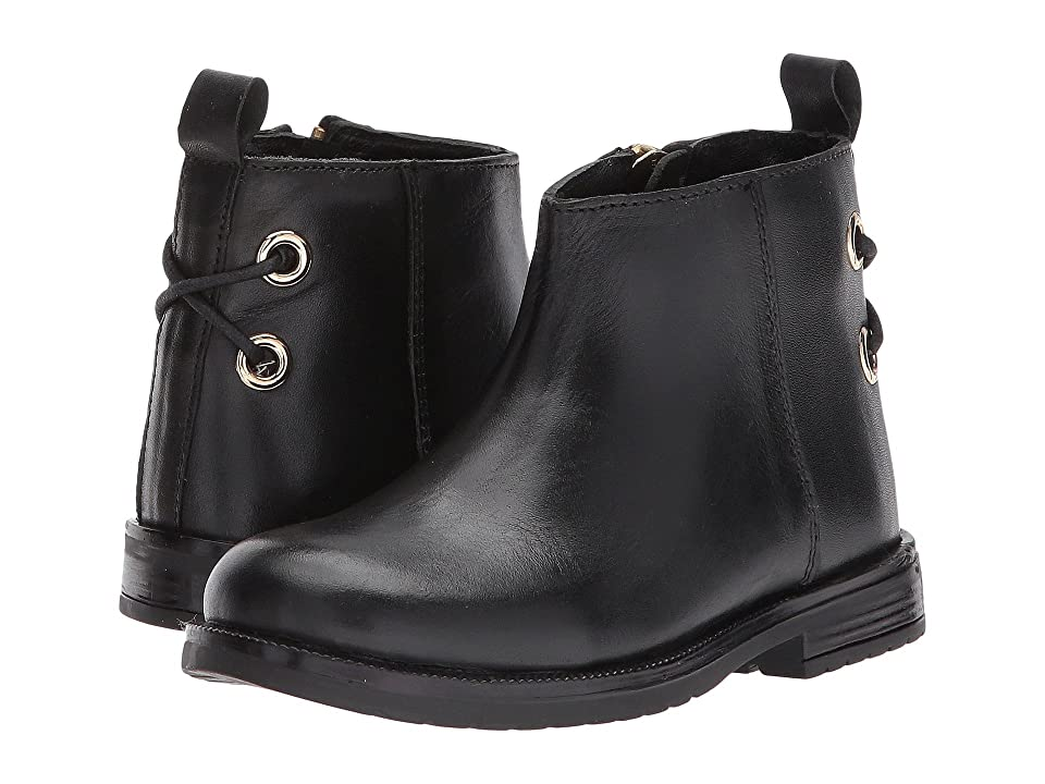 Pazitos Ankle Bootie (Toddler) (Black) Girls Shoes