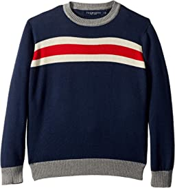 Knit Crew Neck Sweater (Toddler/Little Kids/Big Kids)