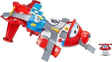 Super Wings - Jett's Takeoff Tower 2-in-1 Toy Playset   Includes Jett Figure   Pop 'n Transform Scale
